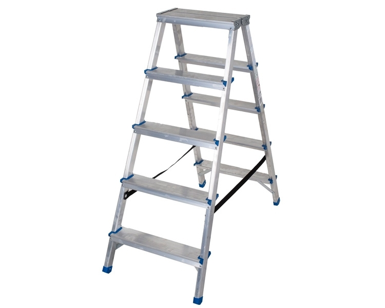 Two-sided aluminum stepladder VIRASTAR Comfort