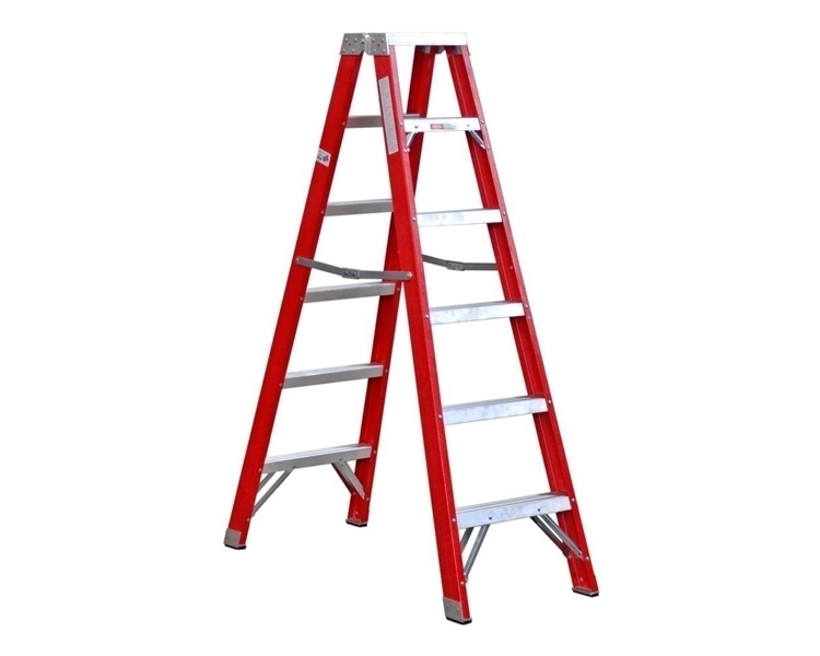 Double-sided fiberglass stepladder VIRASTAR