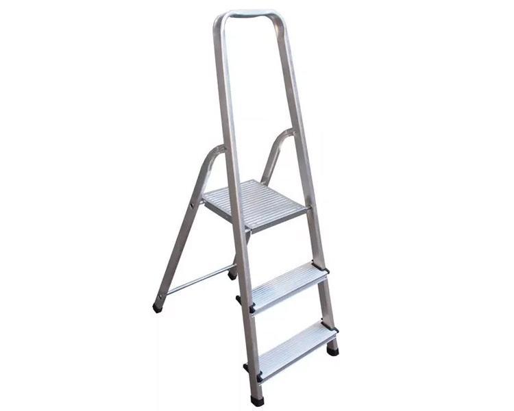 Unilateral aluminum step-ladder of VIRASTAR ALD TUV, 150 kg