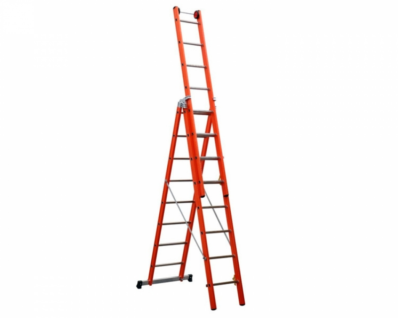 Three-section fiberglass ladder VIRASTAR