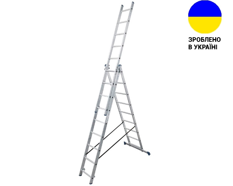 Aluminum three-section ladder TRIOMAX VIRASTAR