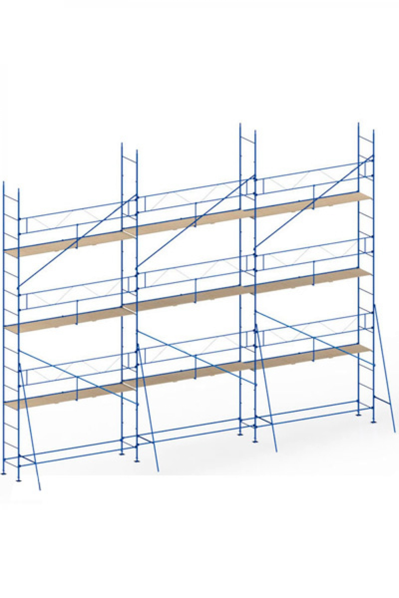 Wedge-clamp scaffolding