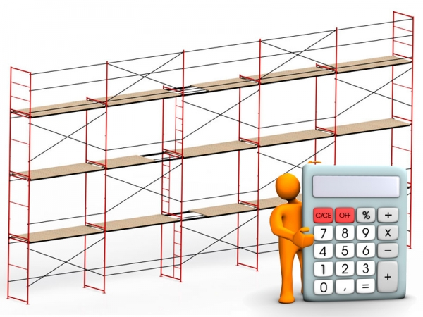 How is the calculation of frame scaffolding?